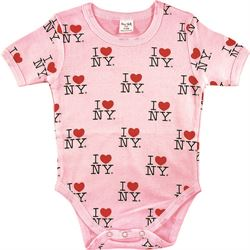 I Love NY Baby Onesies w/ All Over Print