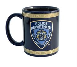 NYPD Ceramic Mug w/Gold Finish