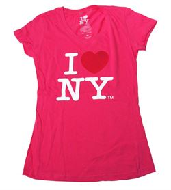I Love NY Ladies Babydoll  Print w/foil