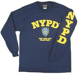 NYPD Logo Long Sleeve Tshirt
