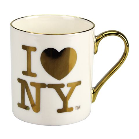 I Love NY Gold 11oz Mug